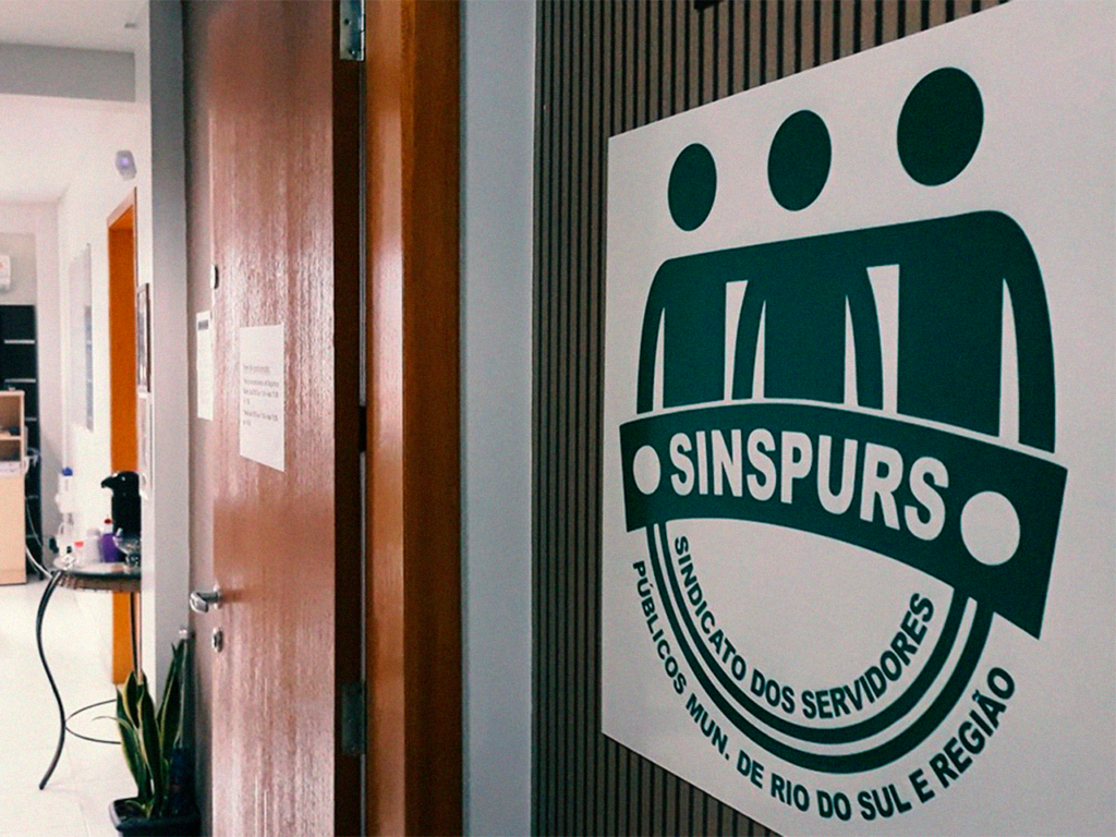Entrada do escritório do Sinspurs